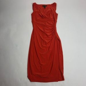 Womens Sz 2 Lauren Ralph Lauren Dress Orange Slink